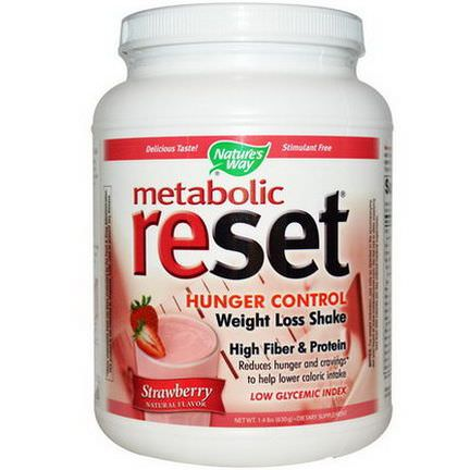 Nature's Way, Metabolic Reset, Hunger Control, Weight Loss Shake, Strawberry 630g
