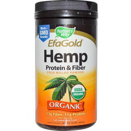 Nature's Way, Organic, EfaGold, Hemp Protein&Fiber, Cold Milled Powder 454g