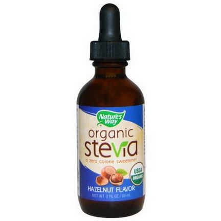Nature's Way, Organic, Stevia, Hazelnut Flavor 59ml