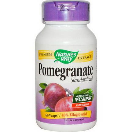 Nature's Way, Pomegranate, Standardized, 60 Vcaps