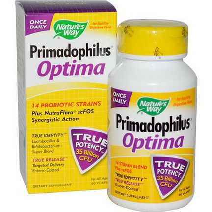 Nature's Way, Primadophilus Optima, For All Ages, 60 Vcaps