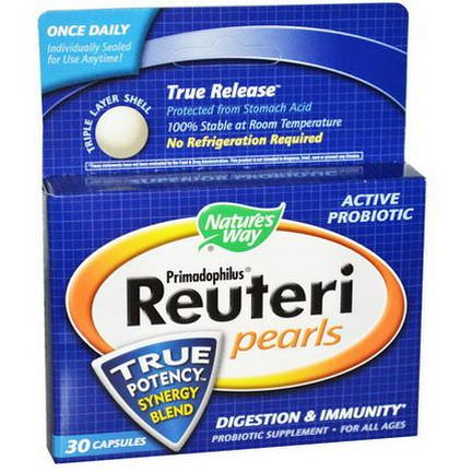 Nature's Way, Primadophilus Reuteri Pearls, 30 Capsules