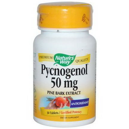 Nature's Way, Pycnogenol, Pine Bark Extract, 50mg, 30 Tablets