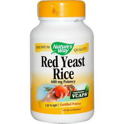 Nature's Way, Red Yeast Rice, 600mg, 120 Vcaps