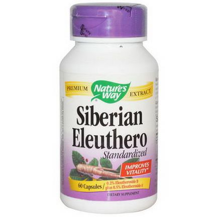 Nature's Way, Siberian Eleuthero, Standardized, 60 Capsules