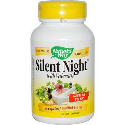 Nature's Way, Silent Night with Valerian, 440mg, 100 Capsules