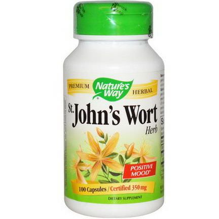 Nature's Way, St. John's Wort, Herb, 350mg, 100 Capsules
