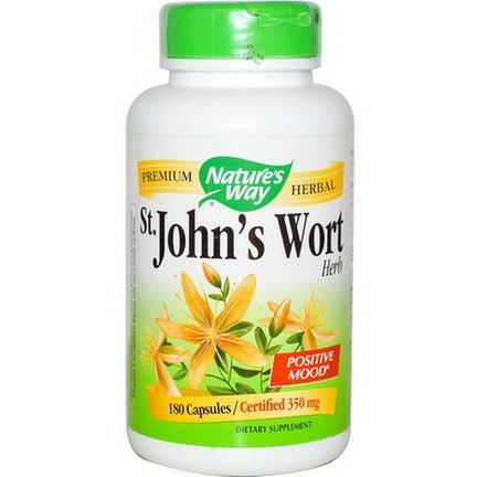 Nature's Way, St. John's Wort Herb, 350mg, 180 Capsules