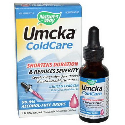 Nature's Way, Umcka, ColdCare, Alcohol-Free Drops 30ml