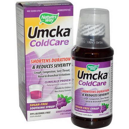 Nature's Way, Umcka ColdCare, Soothing Syrup, Sugar Free, Grape Flavor 120ml