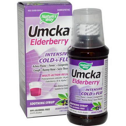 Nature's Way, Umcka Elderberry, Intensive Cold+Flu, Berry Flavor 120ml