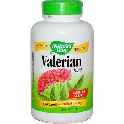 Nature's Way, Valerian Root, 530mg, 180 Capsules