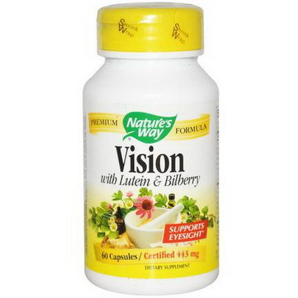 Nature's Way, Vision, With Lutein&Bilberry, 443mg, 60 Capsules