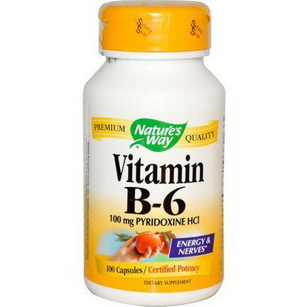 Nature's Way, Vitamin B-6, 100 Capsules