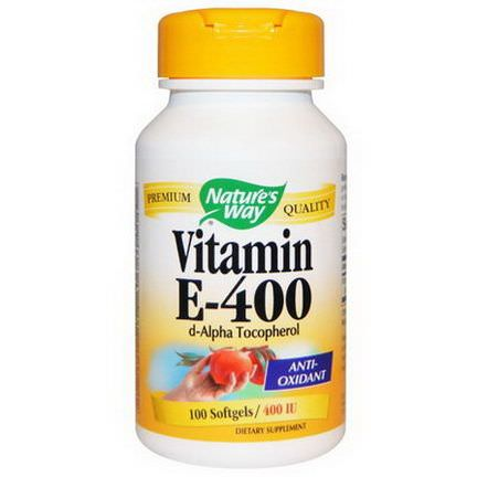Nature's Way, Vitamin E-400, 400 IU, 100 Softgels