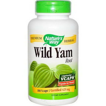 Nature's Way, Wild Yam Root, 425mg, 180 Vcaps