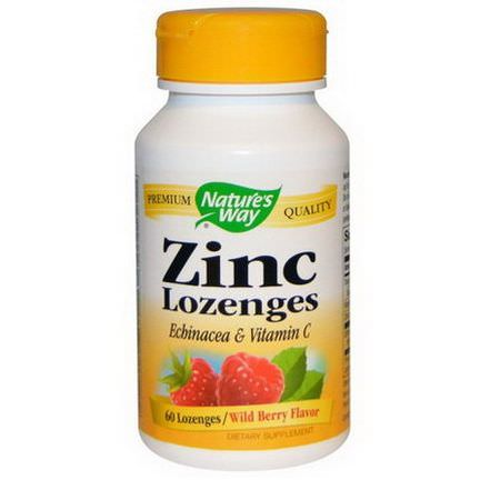 Nature's Way, Zinc Lozenges, Wild Berry Flavor, 60 Lozenges