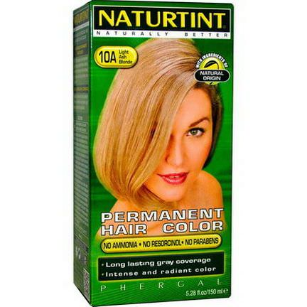 Naturtint, Permanent Hair Color, 10A Light Ash Blonde 170ml