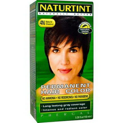 Naturtint, Permanent Hair Color, 4N Natural Chestnut 150ml