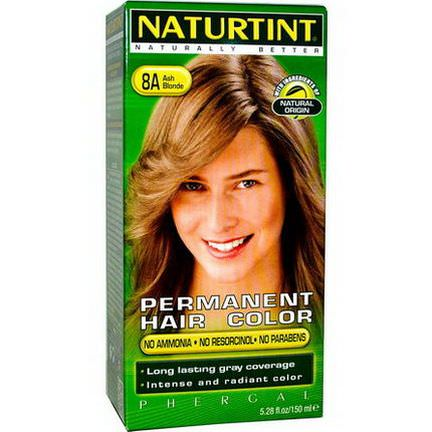 Naturtint, Permanent Hair Color, 8A Ash Blonde 150ml