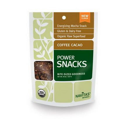 Navitas Naturals, Power Snacks, Coffee Cacao 227g
