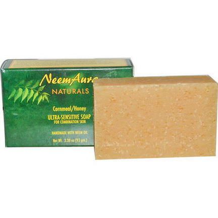 Neemaura Naturals Inc, Ultra-Sensitive Soap, Cornmeal/Honey 93g