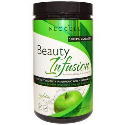 Neocell, Beauty Infusion, Refreshing Collagen Drink Mix, Appletini 330g