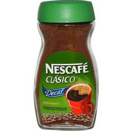 Nescafe, Clasico, Pure Instant Decaffeinated Coffee, Decaf, Dark Roast 200g