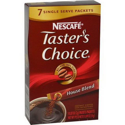 Nescafe, Taster's Choice, Instant Coffee, House Blend, 7 Packets 2g Each