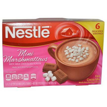 Nestle Hot Cocoa Mix, Mini Marshmallows, Rich Milk Chocolate Flavor, 6 Envelopes 20.2g Each
