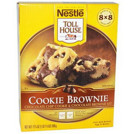 Nestle Toll House, Cookie Brownie, Chocolate Chip Cookie&Chocolate Brownie Kit 506g
