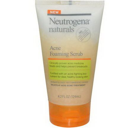 Neutrogena Naturals, Acne Foaming Scrub 124ml