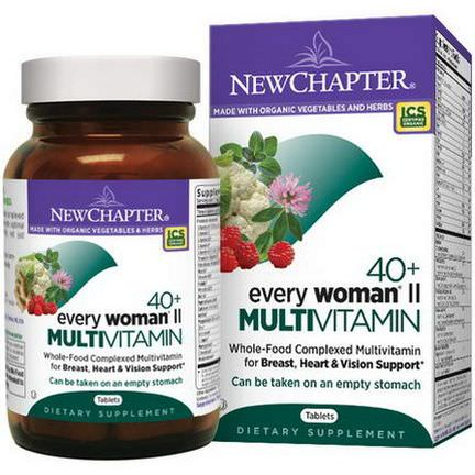 New Chapter, 40+ Every Woman II, Multivitamin, 96 Tablets