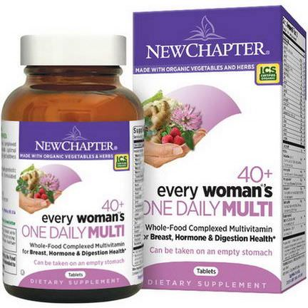 New Chapter, 40+ Every Woman's One Daily Multi, 72 Tablets
