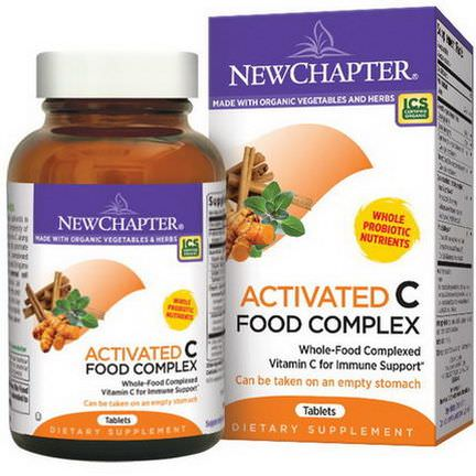 New Chapter, Activated C Food Complex, 180 Tablets