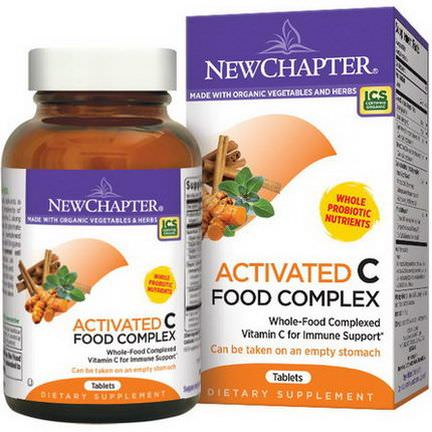 New Chapter, Activated C Food Complex, 90 Tablets