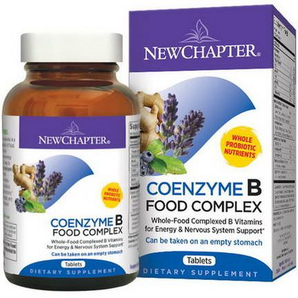New Chapter, Coenzyme B, Food Complex, 180 Tablets