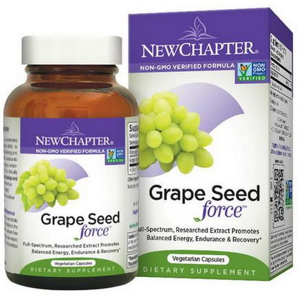 New Chapter, Grape Seed Force, 30 Veggie Caps