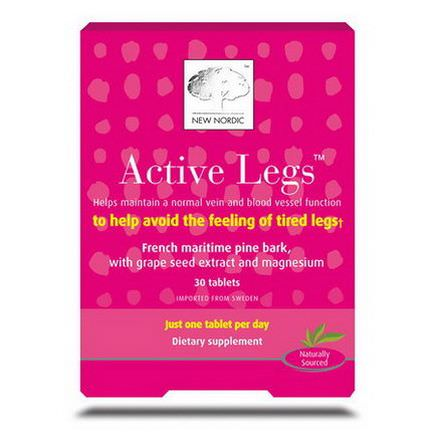 New Nordic US Inc, Active Legs, 30 Tablets