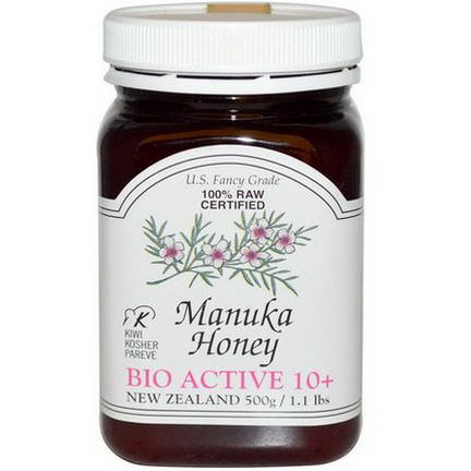 New Zealand Honey, 100% Raw Certified Manuka Honey, Bio Active 10+ 500g