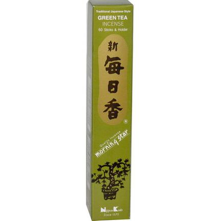 Nippon Kodo, Green Tea Incense, 50 Stick&Holder