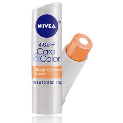Nivea, A Kiss of Care&Color, Lip Care, Sheer Caramel 4.8g