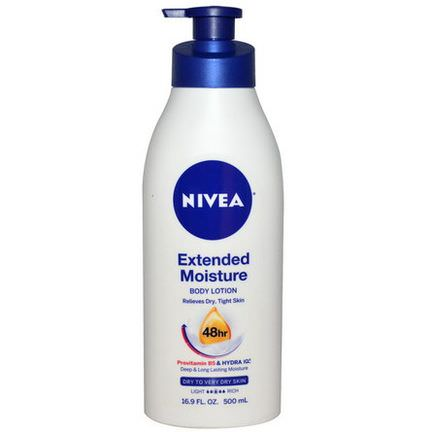 Nivea, Extended Moisture, Body Lotion, Dry to Very Dry Skin 500ml