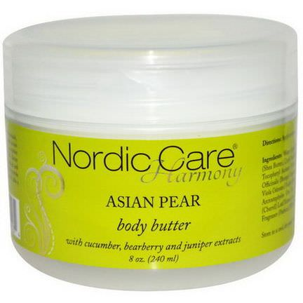 Nordic Care, LLC. Harmony, Body Butter, Asian Pear 240ml
