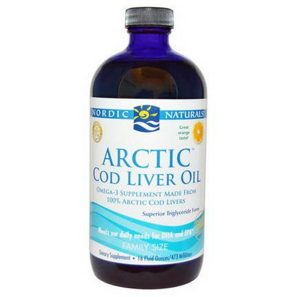 Nordic Naturals, Arctic Cod Liver Oil, Orange 473ml