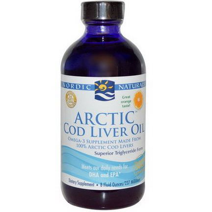 Nordic Naturals, Arctic Cod Liver Oil, Orange 237ml