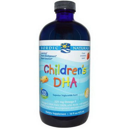 Nordic Naturals, Children's DHA, Strawberry 473ml