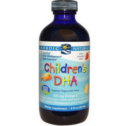 Nordic Naturals, Children's DHA, Strawberry 237ml