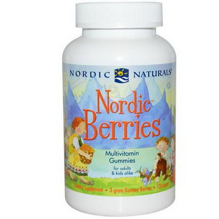 Nordic Naturals, Nordic Berries, Multivitamin Gummies, 120 Count