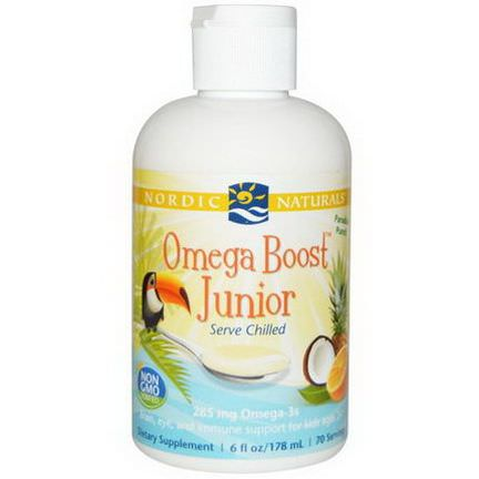 Nordic Naturals, Omega Boost Junior, Paradise Punch 178ml